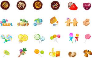 candies and cookies candies and cookies vector