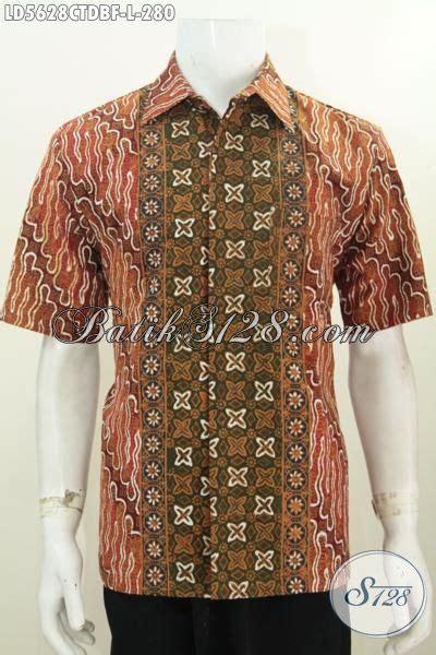 Baju Batik Pria Motif Kalijagalengan Pendek kemeja batik modern klasik dengan desain motif berkelas