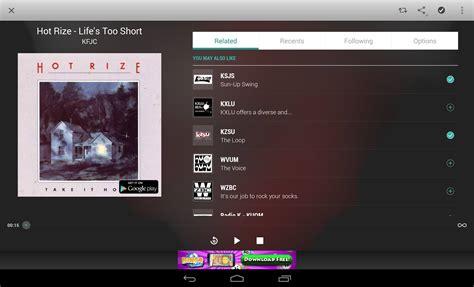 tunein radio app android free tunein radio para android