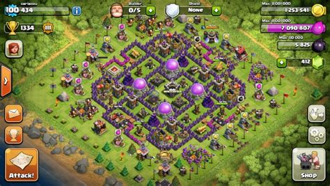 layout coc th9 best clash of clans th9 farming base attackia clash of