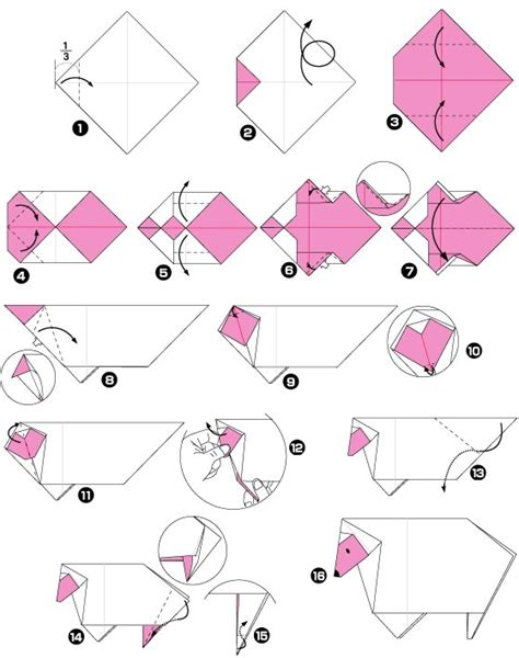origami sheep diagrams sheep origami