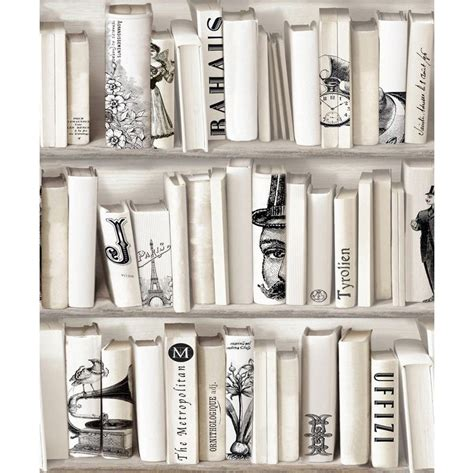 Black And White Library Wallpaper Www Imgkid Com The White Bookcase Wallpaper