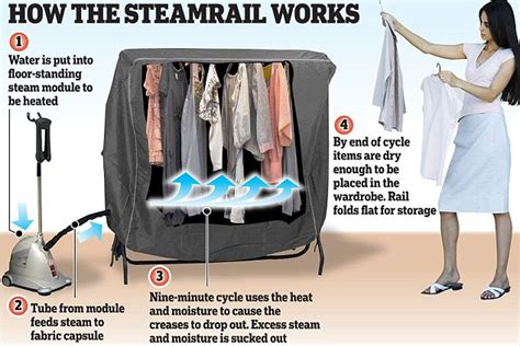 steam cabinet for clothes the end of ironing device steams away creases in nine