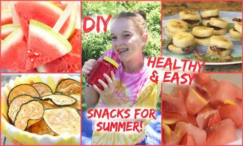 diy healthy easy snacks for summer youtube