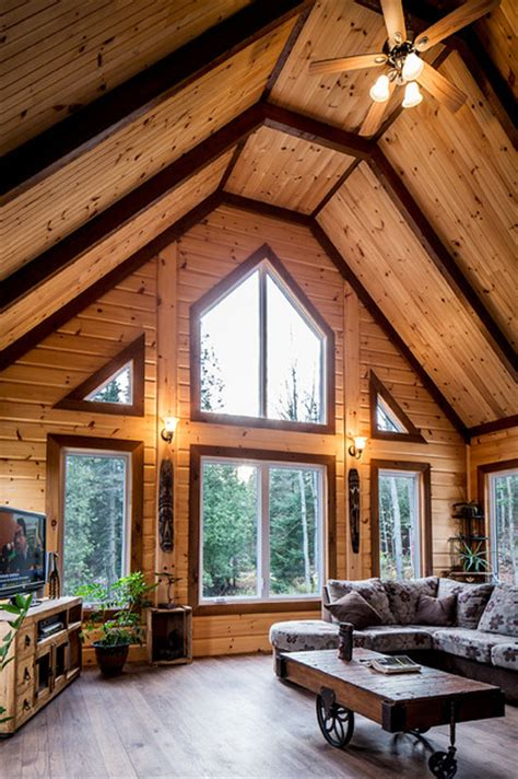 log home interiors traditional by timber