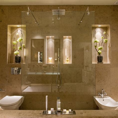 niche in bathroom inspiration with the lucca uplight john cullen lighting