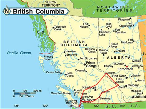 map of bc and alberta canada travel pictures koen coillie map canada 2006