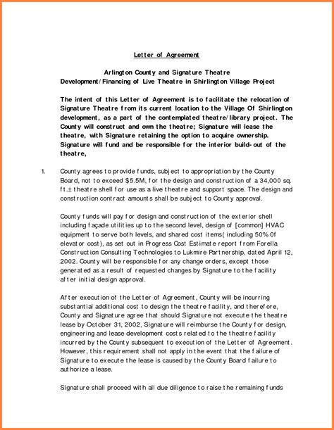 Letter Of Agreement Software Project 5 interior design letter of agreement template purchase