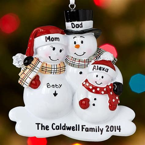 exoecting chrostmas ornament with family 2 we re expecting family ornament these and papa snowmen something to be proud