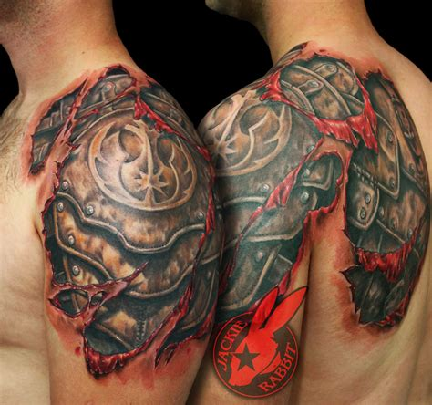 tear out tattoo designs wars rebel symbol armor tear out realistic 3d