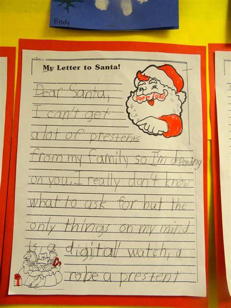 patties classroom santa handprints  letters  santa