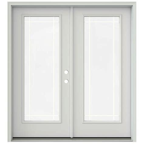 9 Patio Door Jeld Wen 72 In X 80 In Primed Prehung Left Inswing 9 Lite Patio Door With