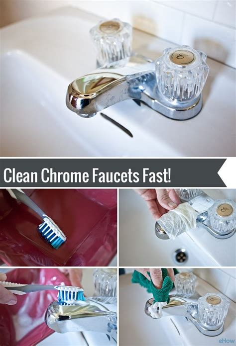 Clean Chrome Bathroom Fixtures How To Clean Chrome Faucets Faucet Household And Bathroom Cleaning