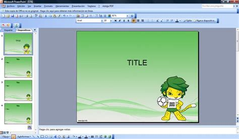 powerpoint 2010 templates zakumi world cup 2010 powerpoint
