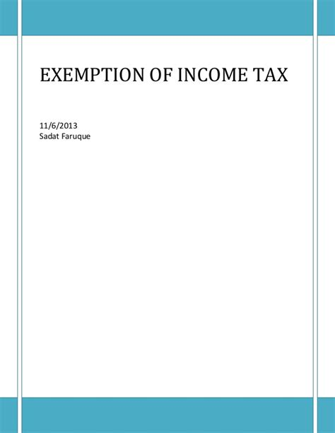 income tax exemption under section 10 income exempted from tax