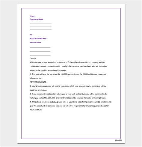 appointment letter in word company appointment letter 9 docs for word and pdf format