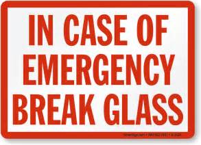 in of emergency glass template glass in of emergency labels