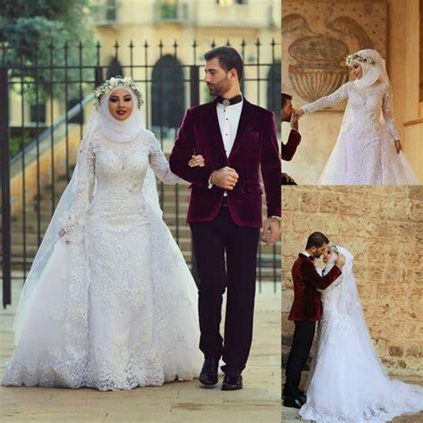 Bridal Dress Kebaya Pengantin Ekor Gown Wedding Prewed Prawed Modern 16 inspirasi gaun pernikahan putih berhijab tertutup dan