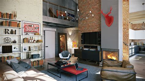 loft interior 3 stylish industrial inspired loft interiors
