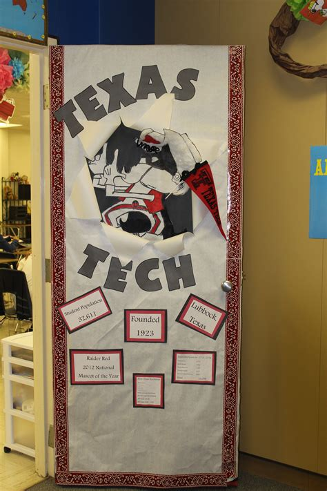 teachers at crockett jr high held a college door decorating contest teachers were asked to