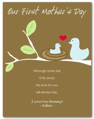1st day card templates printable mothers day card template