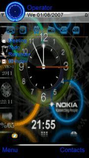 colour clock themes download color circle clock s60v5 theme nokia theme