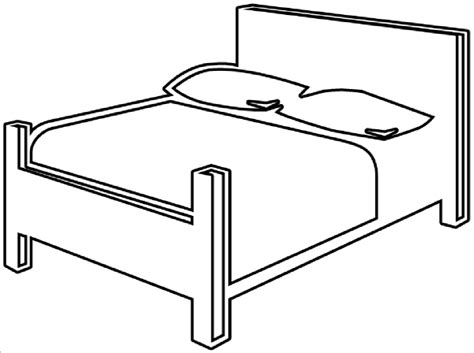 drawing of a bed bed outline clip art at clker com vector clip art online royalty free public domain
