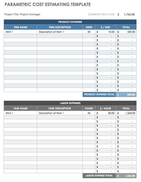 project cost estimating spreadsheet for contractors