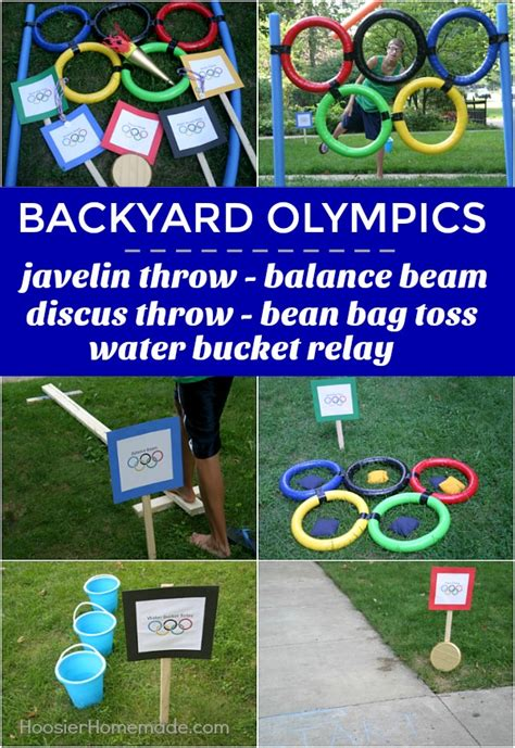 backyard olympics how to make an olympic torch hoosier homemade