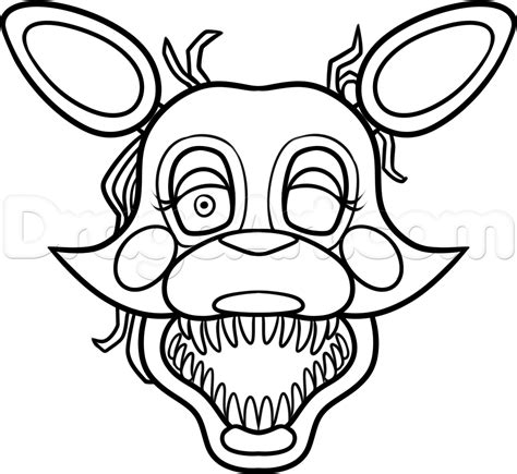 f naf 2 coloring pages chica toy 17 images of f naf foxy coloring pages freddy s at five