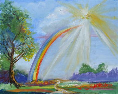 painting rainbow rainbow painting by kimsey bollinger