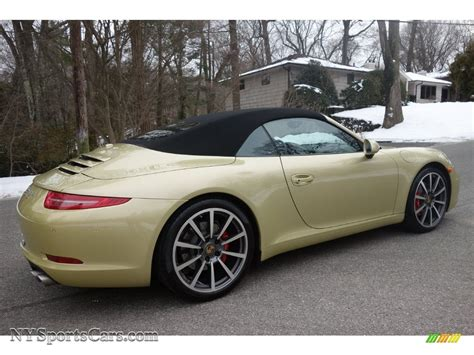 porsche metallic 2013 porsche 911 s cabriolet in lime gold metallic