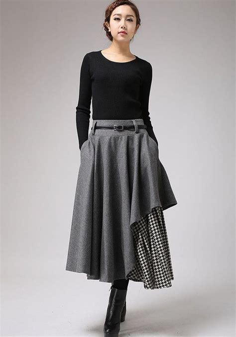 7 Favorite Winter Skirts by Gray Wool Skirt Winter Skirt Layered Skirt 720