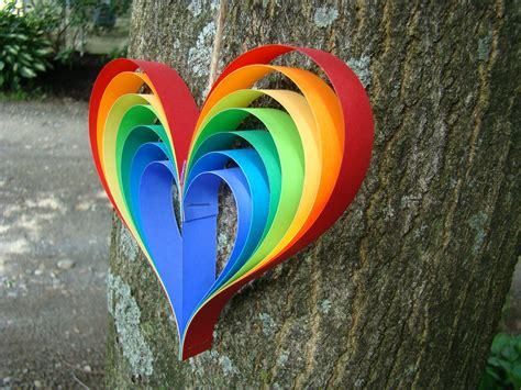 garland hearts rainbow garland 5 garland with 5 rainbow hearts