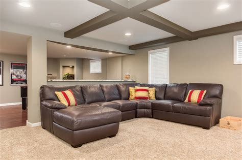 Basement Sectional Sofa Transitional Basement