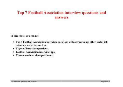 electric boat interview questions top 7 football association interview questions and answers