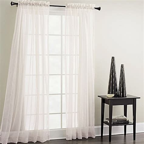 croscill sheer curtains croscill sheer mist 84 inch window curtain panel in white
