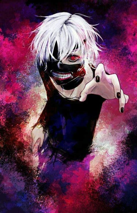 Anime W Stylu Tokyo Ghoul by Kaneki Ken White Hair Anime Boy Tokyo Ghoul