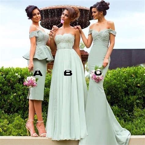 2017 Best Mint Green Bridesmaid Dresses Short Long Wedding