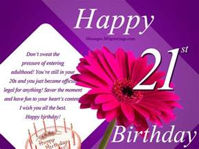 21st birthday wishes for 365greetings