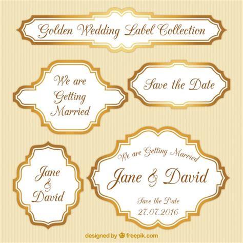 Aufkleber Einladung Zur Goldenen Hochzeit by Packung Mit Goldenen Hochzeit Etiketten Der