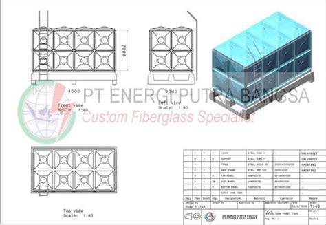 roof tank fiberglass frp brosur tangki panel kotak