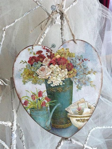 decoupage beads tutorial large wooden heart decoupage vintage bow beads christmas