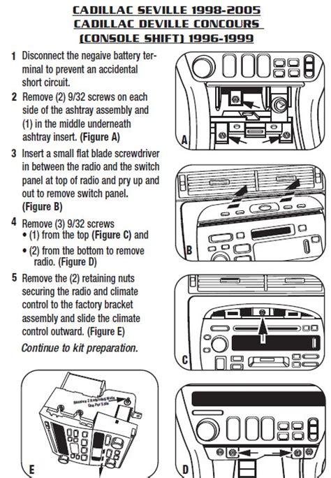 cadillac sevilleinstallation instructions