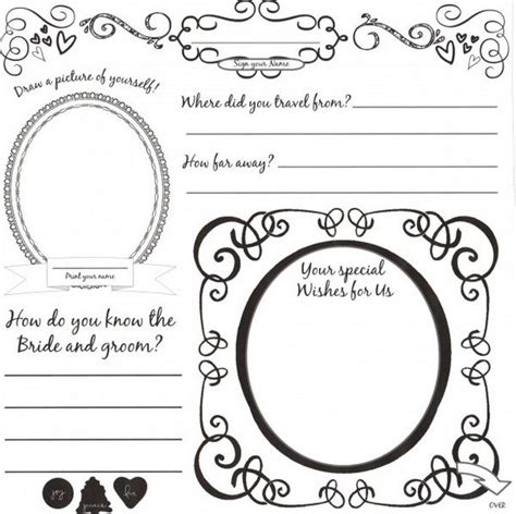 wedding guestbook template 8 best images of wedding coloring book printable template