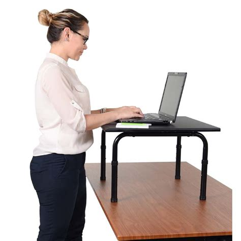 24 inch wide desk luxor 24 inch wide desktop standing desk black stand sd24