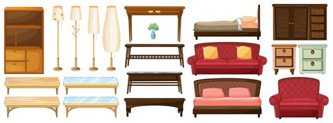 different furnitures download free vector art stock