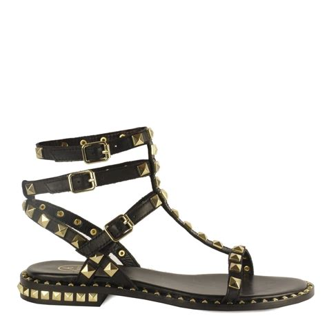 studded sandal shop studded sandals at ash footwear black leather