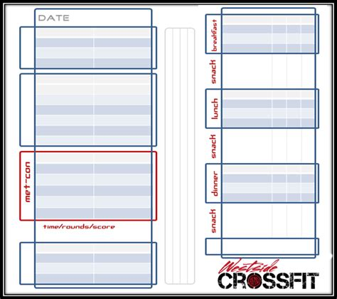 Crossfit Workout Log Template print out our wod journal template to keep track of your
