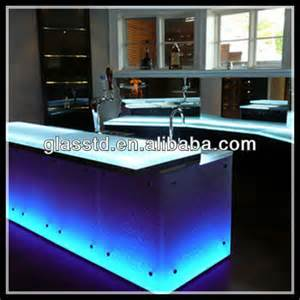 white crystallized glass countertop commercial